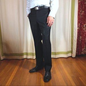 pronto uomo pinstripe dress pants black 34 waist